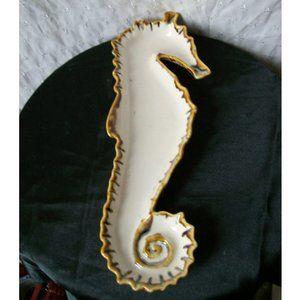 Ceramic Seahorse Plate Trinket Dish
